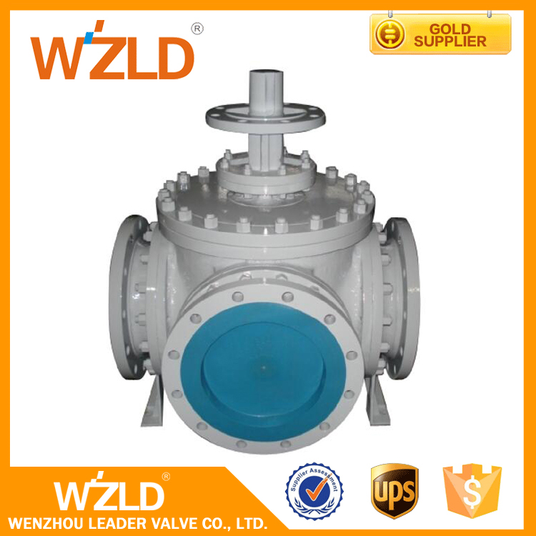 WZLD Hand Lever & Gear Operated Hydraulic Flanged 3 4 6 Way Ball Valves Class150~Class300