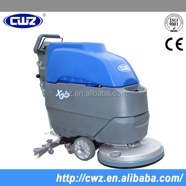 Large stock cable manual ground cleaning machine, floor scrubber