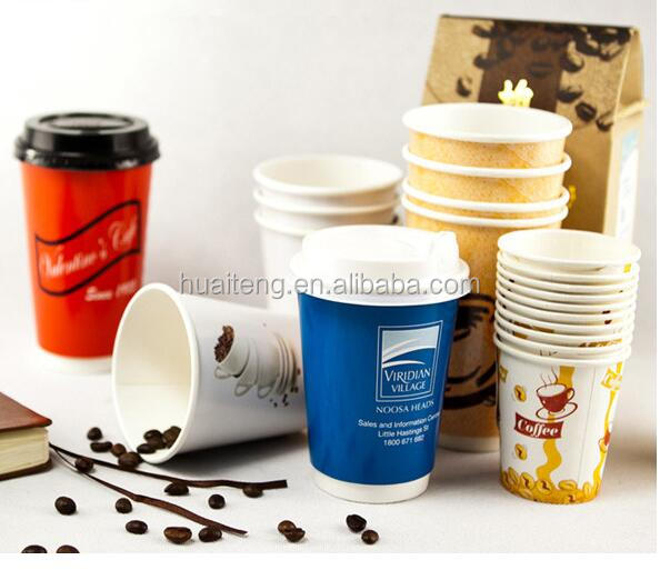 export 7oz paper cup/disposable paper single/double wall cup customized printed
