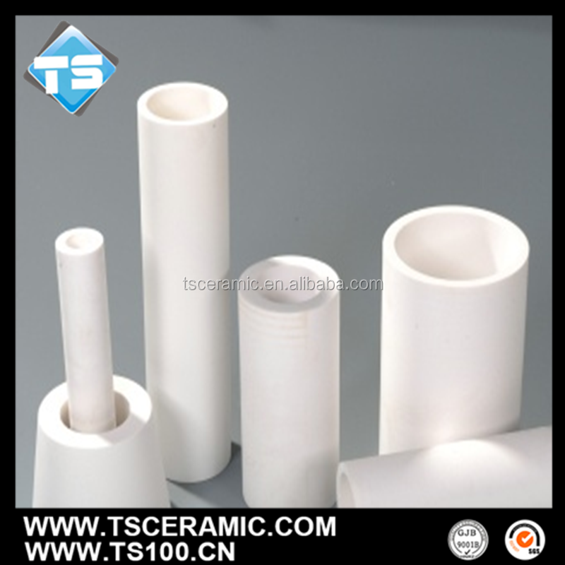 integral forming process al2o3 ceramic lining tube with customized sizes