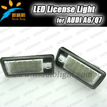 LED License Plate Lamp for Audi A3 A4 A6 S3 S6 C6 Q7 RS4 RS6,led license/number plate lamp/lights for audi