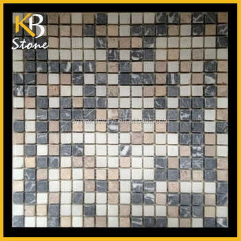 Nero Marquina+Cream Marfil+sunset pink Marble Mosaic Decorative Backsplash Mosaic Mosaic 1.5*1.5mm