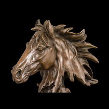 Horse head bronze statue and sculpture,animal statue for home decoration
