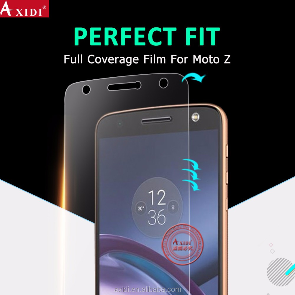 YiChuang new coming anti-shatter 3d full cover curved screen protector film for Moto Z screen protector