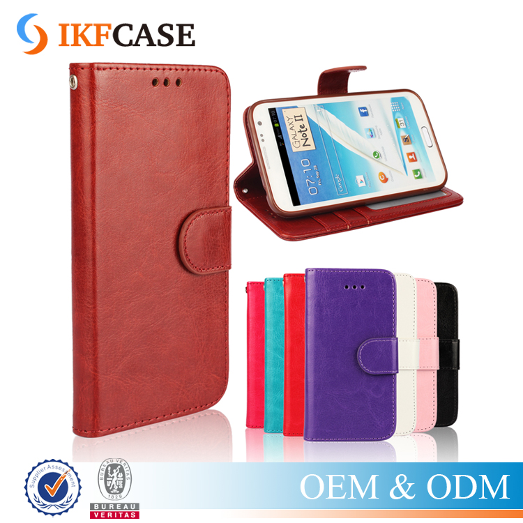 New Fashion TPU PU Leather Case Flip Cover For Samsung Galaxy Note 2 N7100