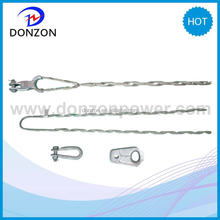 Suspension clamp and tension clmap for optical fiber cable