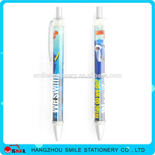 Stationery retractable heat transfer film printing plastic ball pens