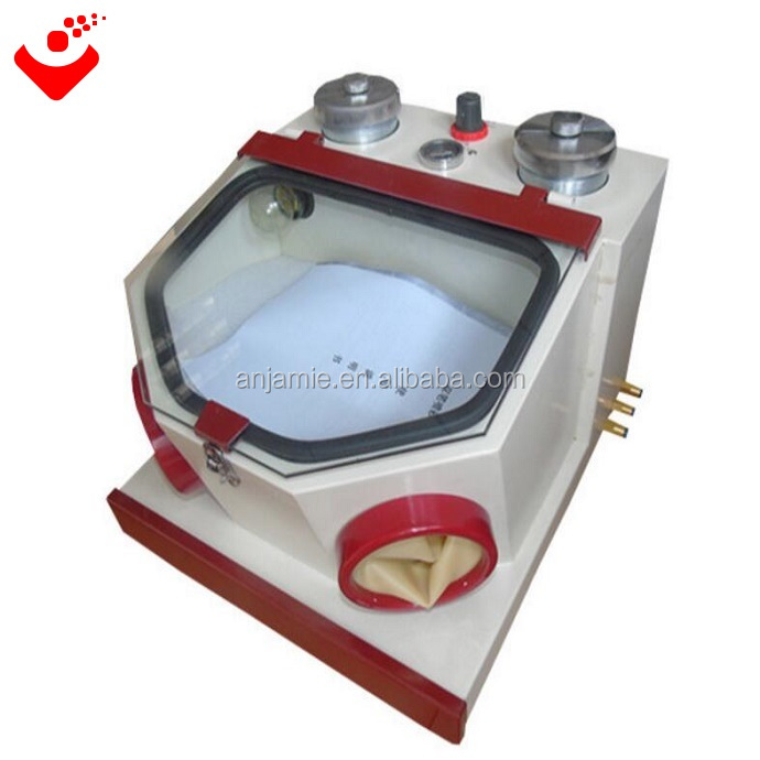 Dental lab sandblaster with two pen