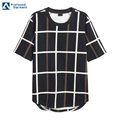 High Quality Short Sleeve Rounded Hem Patterned Organic Man's Cotton T-shirt