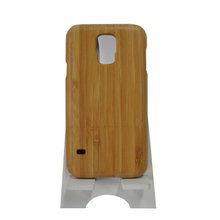 Free sample wooden phone case durable cell phone case bamboo buckle case phone cover for samsung galaxy 5