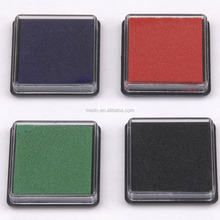 Multicolor 40*40*10mm Square Quick Dry Ink Pad for Stamping Cardmaking