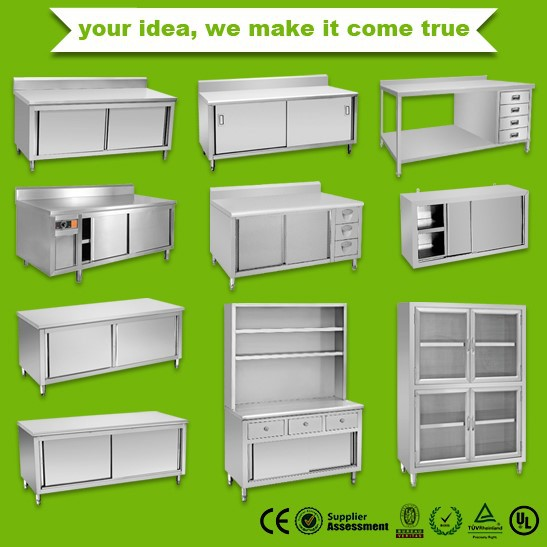 Wholesale stainless steel kitchen cabinet wholesale price for Stainless steel kitchen cabinet price