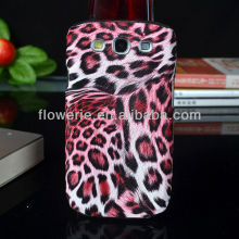 FL699 Guangzhou leopard pattern combo case for samsung galaxy s3,Aluminum&leather chrome design case for s3