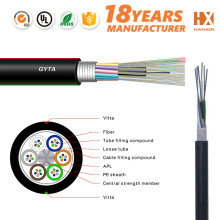 Free from electric pipe line steel wire direct buried optical fiber cable