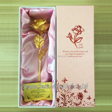Valentine gift 2015 Christmas gift 24k gold plated rose