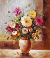 Handmade flower oil painting modern european art