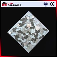 Bubble glass mix with aluminum industrial flower marble mosaic tile with good offer