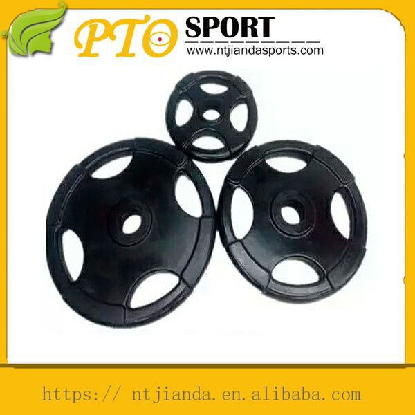 Mass production 4 holes barbell plates barbell bar for muscle training