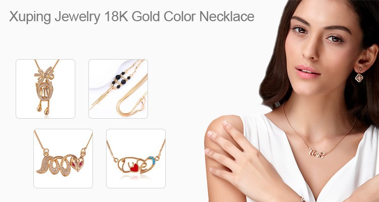 43836 fashion simple gold chain necklace cheap 18k heart shape  pendant gold plated jewelry necklace
