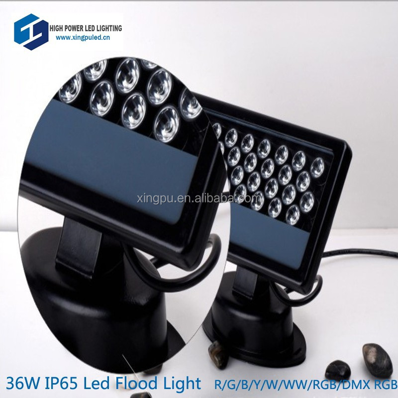 2015 high quality 36W dmx rgb outdoor led flood light 110V/230V, project quality 3 years warranty