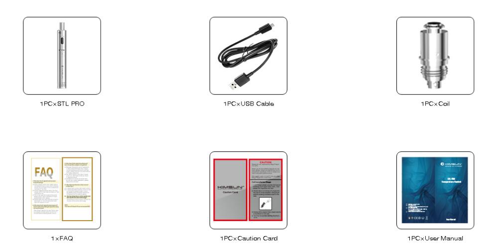 Wholesal Silver KIMREE STL PRO Temperature Control Vape Pen E cigarette