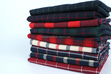 Environmental checked 100% Cotton Fabric Making Pajamas / baby Flannel / bed Sheets / shirts