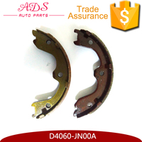 China auto spare parts manufacturer genuine car brake shoes for Japanese car OEM: D4060-JN00A
