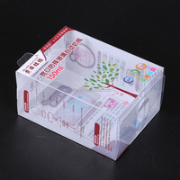 Customized Clear Folding Plastic Box With Printing,soft-crease