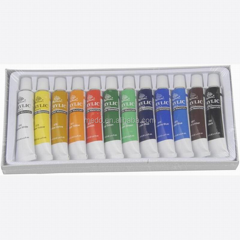 12 colors 12ml acrylic paint with OEM logo
