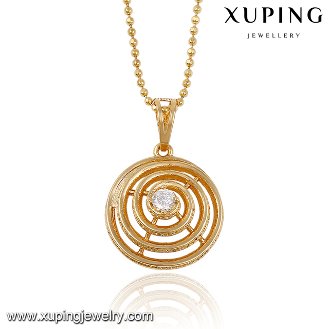 32554 Newest design spiral shape gold design inlay Rhinestone fashion pendant jewelry