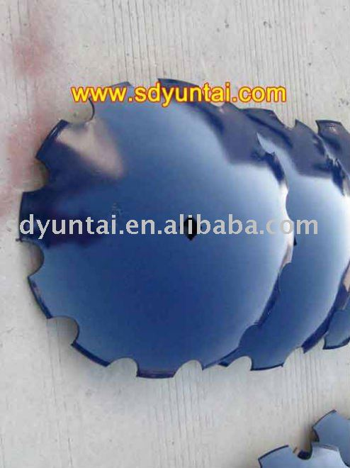 toothed spring steel disc blade