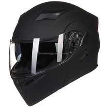 DOT approval dual lens matt black modular flip up motorcycle helmet