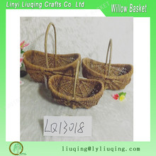 Cheap wicker baskets for garden and plant