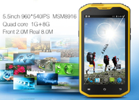 "5.5"" waterproof dustproof 4G Bluetooth GPS WIFI Compass Gyroscope rugged smart phones telephon mobil android 4.4"