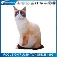 Wholesale soft stuffed siamese cat animal toy toy