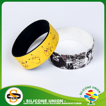 Design flag brazil silicone wristbands premiums gift for camping