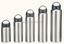 BPA-FREE double wall stainless steel 18/8 wide-mouth sports bottle,travel vacuum flask with top carrying cap