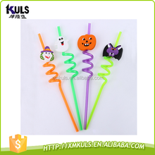 Wholesale Halloween straw PVC cartoon straws custom crazy plastic drinking straw