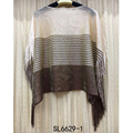 Fashion new style wholesale long polyester tassel scarf