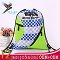 Wholesale printing motor sport racing durable two pockets backpack for school