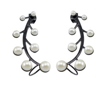 ZS20114 stainless steel cheap ear cuff jewelry , ear cuff wholesale , pearl earring covering the ear