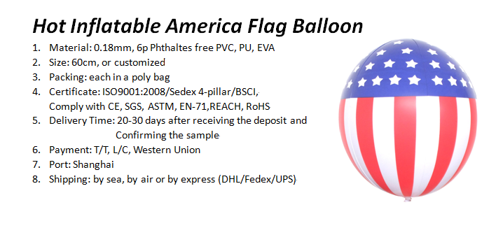 New Inflatable America Flag Balloon