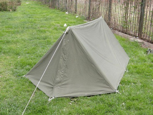 Army half shelter tent easy to set up