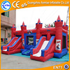Red and blue inflatable castle combo, giant inflatable bouncer with slide combo inflatable