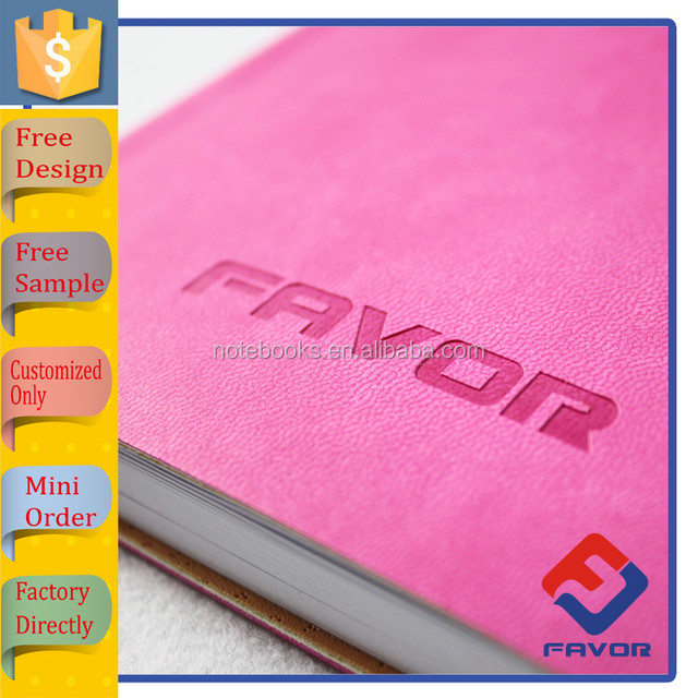 promotional gift items custom leather bound book printing