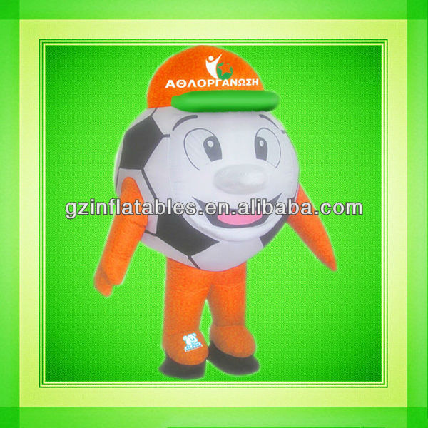 football doll inflatable moving cartoon costume