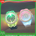 Glass flashing LED light up watch