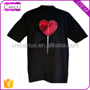 Mens tall tshirts customized black wholesale clothing