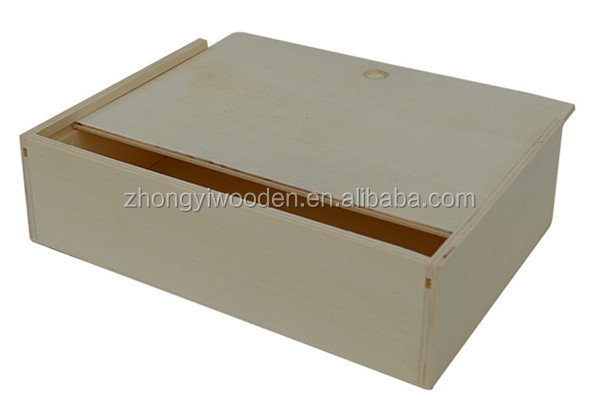 Trade assurance high quality silding lid custom wooden paper cup cake box
