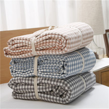 Home Textile 100%Wash Cotton Double Side Soft Blanket
